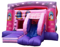 15ft x 19ft Princess Bouncy Castle & Slide Combo