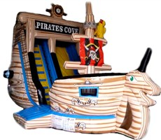 !! 23ft x 14ft x 18ft Pirate Cove Adventure Slide
