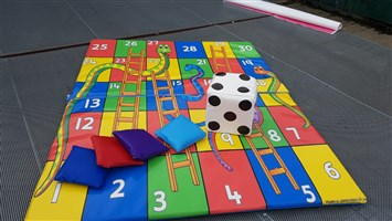 5ft x 6ft Giant Snakes & Ladders Softplay Game Mats