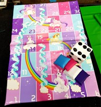 5ft x 6ft Unicorns Snakes & Ladders Softplay Game Mats