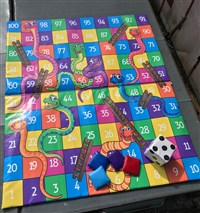 8ft x 10ft Giant Snakes & Ladders Softplay Game Mats
