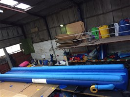 9m Air Tumble Track Dark Blue & Light Blue