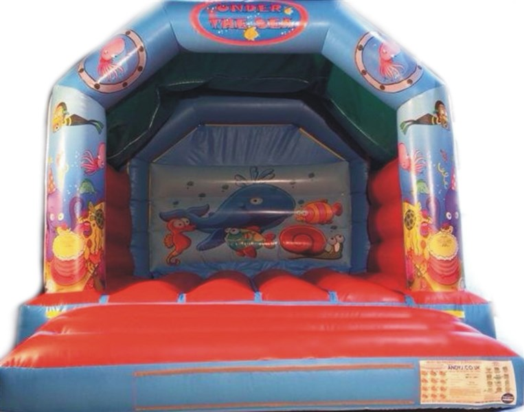 12ft x 12ft Under The Sea A Frame Bouncy Castle