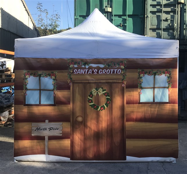 We Also offer the heavy Duty Christmas Grotto Gazebo only £499 plus vat.