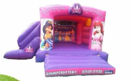 Princes slide combo bouncy castle inflatable for sale