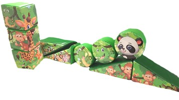 10 Piece Jungle Softplay Set
