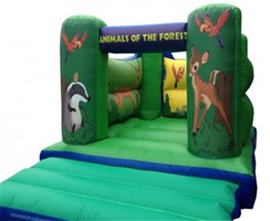 10ft x 12ft Forest Animals H-Frame Bouncy Castle