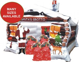 10ft x 12ft Inflatable Santa's Grotto