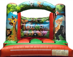 10ft x 12ft Jungle Curved Bar H-Frame Orange & Green