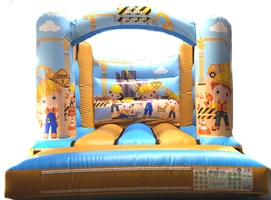 10ft x 12ft Little Builders H-Frame Bouncy Castle