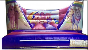 10ft x 13ft Unicorn V-Front Bouncy Castle