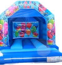 11ft x 12ft Interchangeable Blue Balloons Bouncy Castle