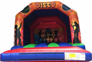 12ft x 15ft Disco A-Frame Bouncy Castle w/ Pocket