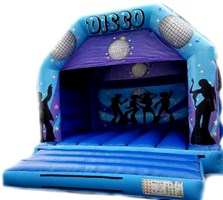 12ft x 12ft Disco Blue & Purple A-Frame with Visor