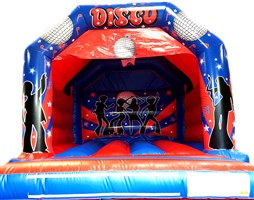 12ft x 12ft Disco Blue & Red A-Frame with Visor & Pocket