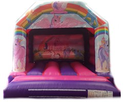12ft x 12ft Unicorn A-Frame Bouncy Castle