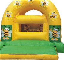 12ft x 15ft Bumblebee Ball Pond Arched Bouncy Castle