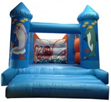 12ft x 15ft Under The Sea H-Frame Bouncy Castle w/ Turrets