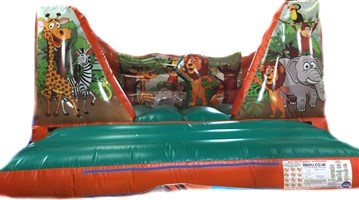 12ft x 15ft Jungle V-Front Bouncy Castle