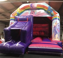 12ft x 18ft Unicorns A-Frame Bouncy Castle & Slide Combo