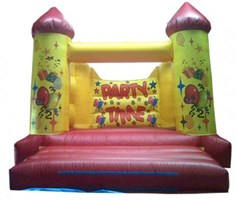 12ft x 15ft Party H-Frame Bouncy Castle w/ Turrets