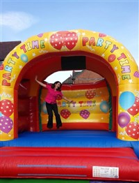 15ft x 15ft Adult or Kids Party Time Arched Bouncy Castle