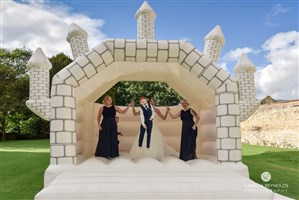 15ft x 16ft Castle Theme Wedding A-Frame Bouncy Castle