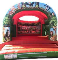 15ft x 15ft Jungle Arch Bouncy Castle