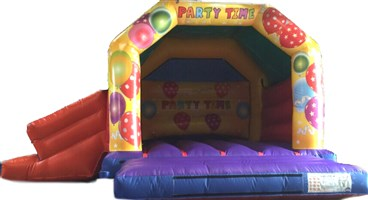 15ft x 17ft Party Time Yellow A-Frame Slide Combo