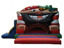 15ft x 21ft Pirate Ball Pond and Slide Bouncy Castle