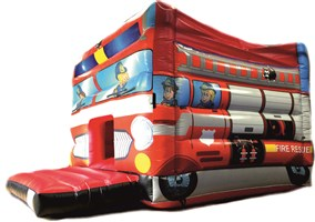 12ft x 15ft Fire Engine Bouncy Castle