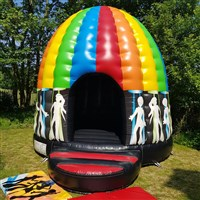 !! 16ft x 20ft Round Disco Dome Bouncy Castle
