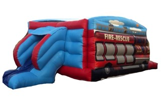 27ft Fire Engine Slide Combo