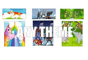 3 X 3PC VELCRO ARTWORK ANY THEME
