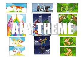 3 X 5PC VELCRO ARTWORK ANY THEME