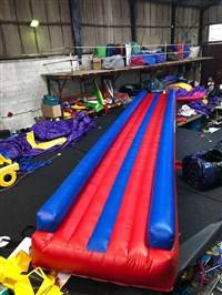 6m Air Tumble Track Blue & Red