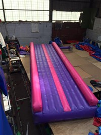 6m WIDER Air Tumble Track Pink & Purple