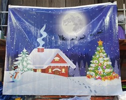 8ft x 10ft Christmas Backdrop 1 Print