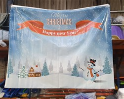 8ft x 10ft Christmas Backdrop 2 Print