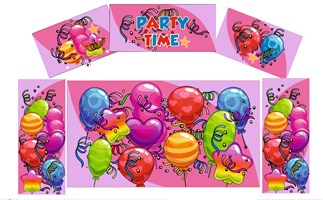 Balloons Pink Artwork