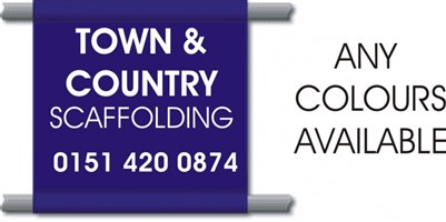 Scaffolding Banners PVC 4'x4' FROM ONLY £25