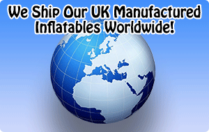 We Ship Our UK Manufactured Inflatables Worldwide